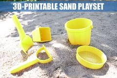 3 D Printable Sand Play Set   By Creative Tools.Com V1