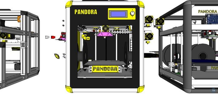 DIY 3D Printer PANDORA DXs - 3D Design