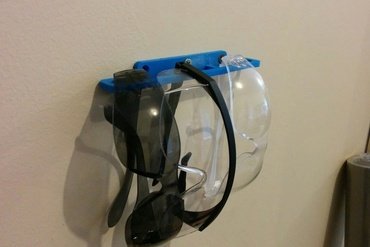 Youmagine Safety Glasses Holder Wall Mount By Excite