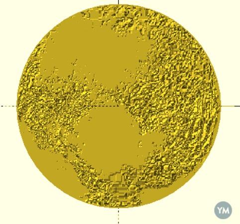 Pluto topographic map