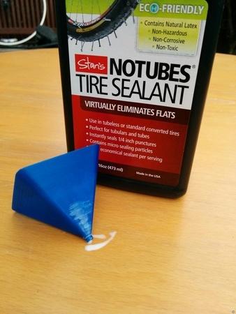 Inner tube sealant funnel