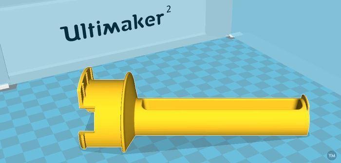 UM2 spoolholder for smaller inner diameter
