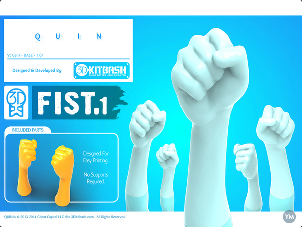 Quin G1: Fist1 - Handy UpKit - 3DKitbash.com