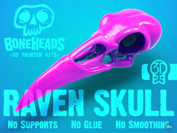 Boneheads: Raven - Skull Kit - 3DKitbash.com