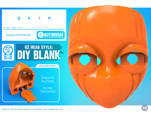 Quin: DIY Blank Face - 3DKitbash.com