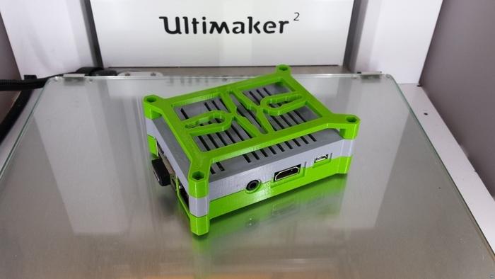 Raspberry Pi 2 case with mounting bracket