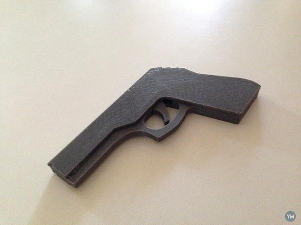 Rubber Band Gun for 3D Print
