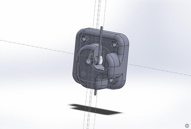 Improved extruder (Deltaprintr)