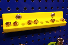 Nozzle Holder 10 Pegboard Threaded