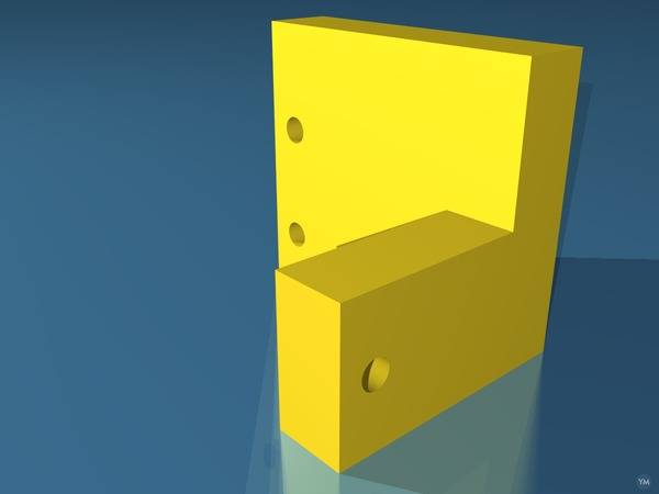 K40 Laser Cutter X Microswitch mount