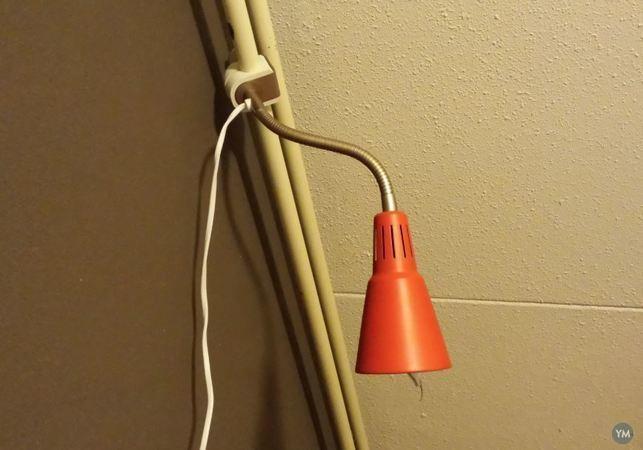 IKEA Kvart 22mm tube mount.