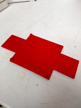 Smoothieboard Melzi Adapter Plate (Mendel90 DiBond)