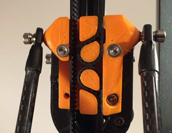 Self locking kossel mini carriage for open belts