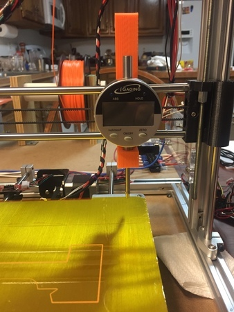 Clamp for Z Axis Depth Indicator (Prusa i3)