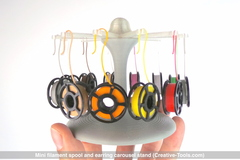 Mini Filament Spool And Earring Carousel Stand  By Ct3 D.Xyz  V01