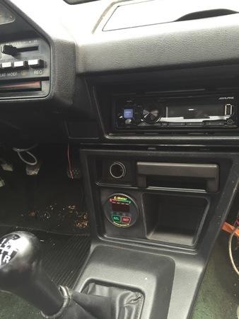1987 Honda CRX Center Console Pocket/Gauge mount