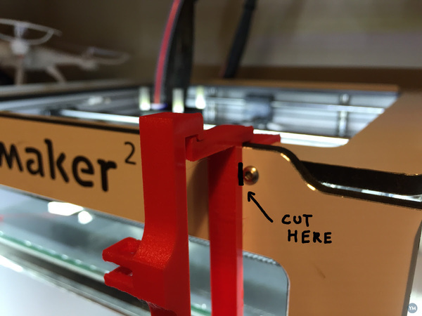 Raspberry and Raspicam mount for Ultimaker 2