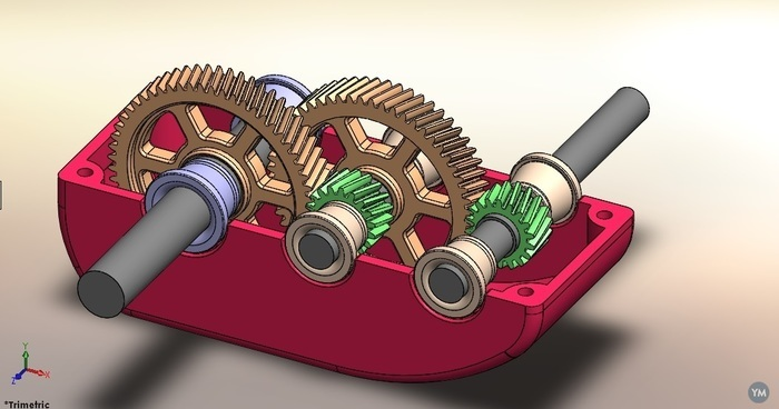 gearbox with bottom housing