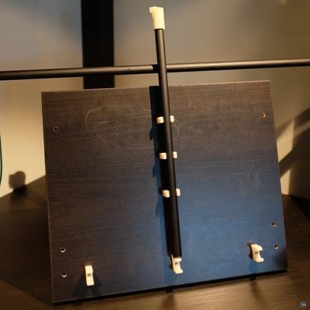 Laptop shelf for corner table