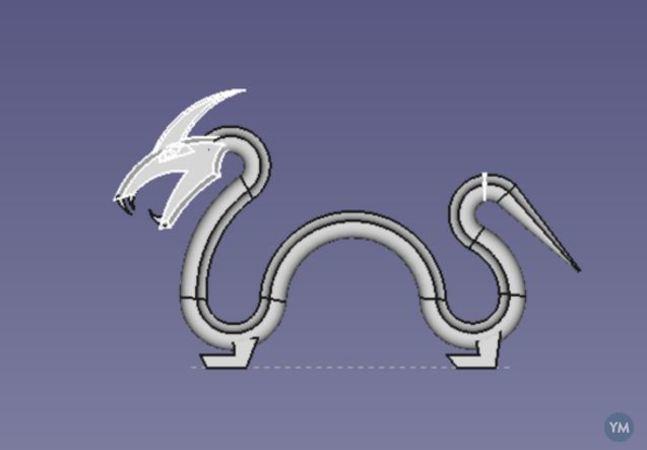 Viking Decor: Dragon Drawer Handle