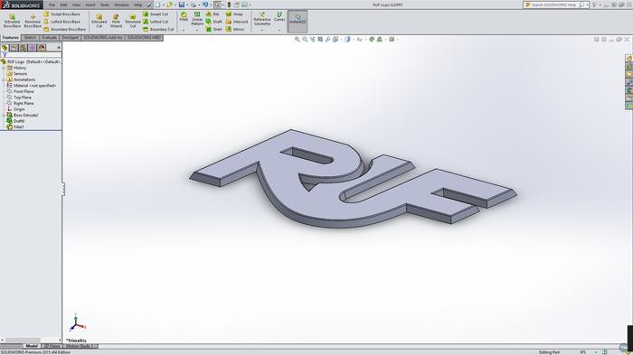 RUF 3D Logo Badge