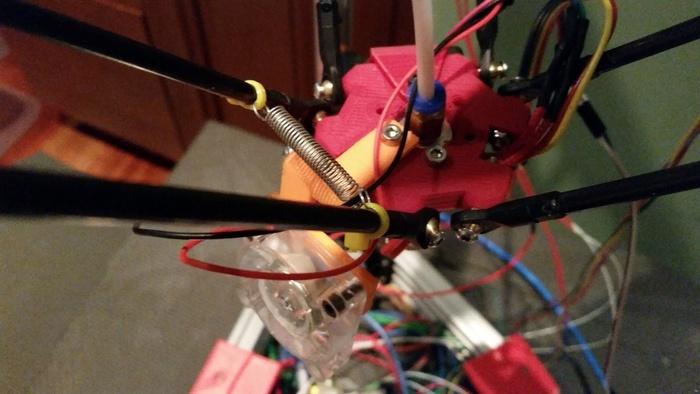 Kossel Fan mount - Parametric