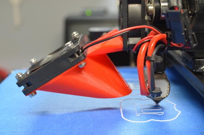 MakerGear M2 Ducted Fan Mount