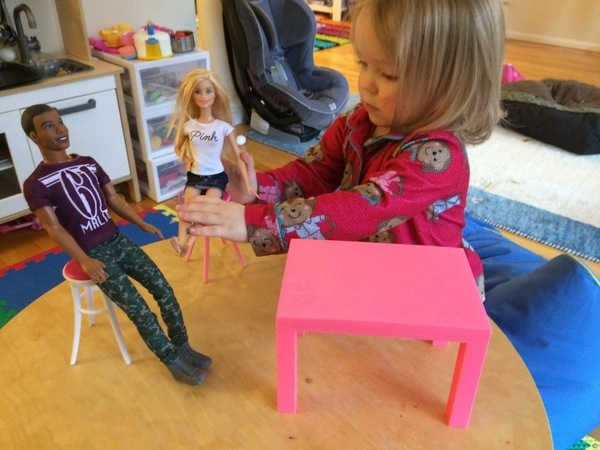 Barbie Table