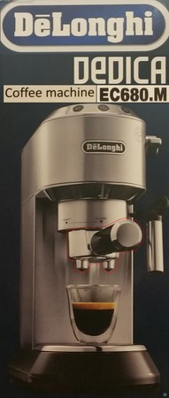Coffee Tamp Stand and Tamper Remix for Delonghi EC680M
