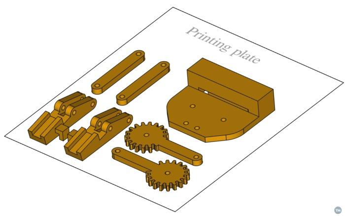Robot Claw id badge holder