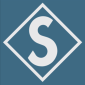 Span2 logo diamond grey on blue