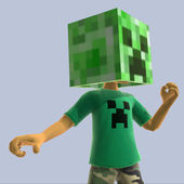 Span2 xbox live creeper head minecraft 360