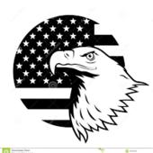 Span2 b w flag   eagle 217 x 233