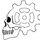 Mini skull logo