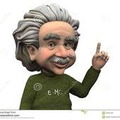 Span2 cartoon albert einstein having idea 24350108