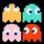 Mini pacman ghosts